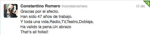 Constantino Romero Twitter